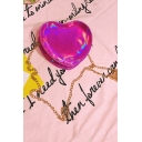 New Collection Stylish Heart-Shaped Chic Dazzling Chain Shoulder Bag