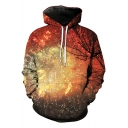 New Fashion Digital Fireworks Pattern Unisex Long Sleeve Sports Hoodie