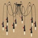 Industrial Multi Light Pendant Light 10 Light E27 LED with Creative Adjustable Design Pipe Fixture