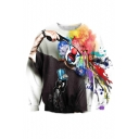 3D Colorful Clown Pattern Long Sleeve Round Neck Sports Casual Sweatshirt