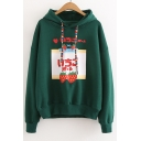 New Arrival Fashion Strawberry Letter Pattern Long Sleeve Loose Hoodie