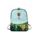 New Collection Cute Cartoon Printed Stylish Basic School Students Backpack