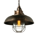 Nautical Rust Iron Metal LED Pendant Light