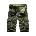Classic Camouflage Pattern Multi Pockets Casual Cotton Outdoor Half Pants