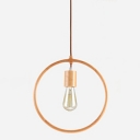 Industrial Vintage Hanging Pendant Light Open Bulb Style with Globe Metal Frame