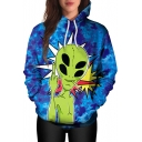 New Stylish Cartoon Alien Pattern Long Sleeve Casual Sports Hoodie