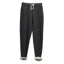 New Arrival Casual Loose Drawstring Waist Heather Gray Sports Pants