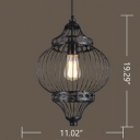 Industrial Hanging Pendant Light Vintage Style with Gorgeous Metal Shade