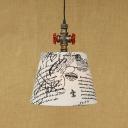 Industrial Retro Single Pendant Light with Fabulous Fabric Shade, LOFT Pipe Fixture