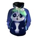 New Trendy Cute Cartoon Little Panda Print Long Sleeve Sports Unisex Hoodie