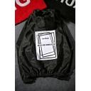 Street Style Fashion Letter Pattern Long Sleeve Unisex Hooded Sun Proof Coat