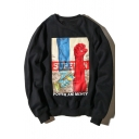 New Collection Hip Hop Street Style Fashion Print Long Sleeve Round Neck Sweatshirt