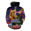 Fashion Christmas Dragon Fire Gifts Printed Loose Oversize Unisex Hoodie