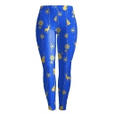 Fashion Christmas Jingle Bell Deer Pattern Skinny Sports Leggings