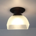 Industrial Flush Mount Ceiling Light with 7