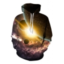 New Collection Fashion Digital Galaxy Stars Print Casual Oversize Unisex Hoodie