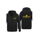 New Fashion Counter Strike CS GO Printed Long Sleeve Zip Up Unisex Hoodie