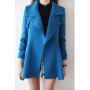 New Arrival Basic Simple Plain Notched Lapel Collar Fashion Trench Coat
