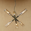 Industrial Retro Multi Light Pendant Light with 12