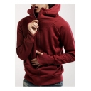 Basic Simple Plain Long Sleeve Comfort Leisure Sports Zip Up Hoodie