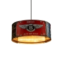 Industrial Multi Light Pendant with 3 Lights and Cylinder Shape Shade