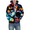 New Arrival Fashion Digital Universe Star Pattern Long Sleeve Hoodie