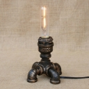 Industrial Table Lamp LOFT Pipe with Fabulous Design in Open Bulb Style