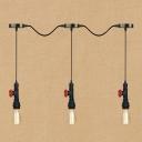 Industrial Multi Light Pendant Light 3 Light with Pipe Style Valve Decorative Fixture Socket