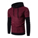 New Collection Stylish Color Block Long Sleeve Hoodie