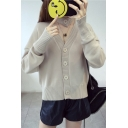 New Arrival Fashion Plain Reversible V Neck Long Sleeve Buttons Down Cardigan with Scarf