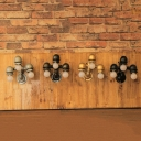 Industrial Vintage Wall Light 3 Light E27 LED Lighting with Colorful Pipe Fixture
