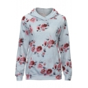 Hot Fashion Floral Pattern Casual Loose Long Sleeve Comfort Hoodie