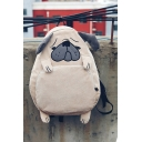 New Arrival Lovely Pug Design Casual Fashion Corduroy School Backpack