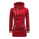 Winter's Warm Fashion Color Block Long Sleeve Comfort Hoodie