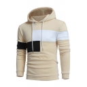 New Collection Chic Color Block Long Sleeve Casual Leisure Hoodie