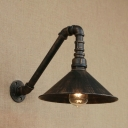 Industrial Wall Light with 10