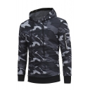 Fashion Classic Camouflage Pattern Long Sleeve Casual Hoodie