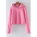 Basic Simple Plain Casual Loose Long Sleeve Comfort Cotton Hoodie