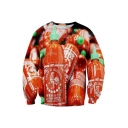 New Arrival 3D Sauce Bottle Pattern Long Sleeve Round Neck Sweatshirt