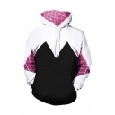 New Arrival Fashion Color Block Long Sleeve Hoodie with Pockets