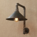 Industrial Wall Light E27 LED with Metal Shade LOFT Arc Pipe Fixture Arm