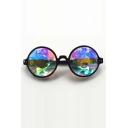New Collection Fashion Concert Performance Geometric Glass Print Cool Eyeglasses