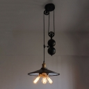 Industrial Extendable Multi Light Pendant in Black Finished, 3 Lights