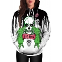 Hot Fashion 3D Crying Skull Pattern Long Sleeve Unisex Hoodie