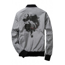 New Collection Fashion Printed Reversible Long Sleeve Zip Up Jacket