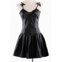 New Arrival Basic Simple Plain Spaghetti Straps Mini A-Line Cosplay Slip Dress