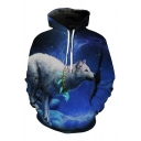 3D Arctic Wolf Printed Long Sleeve Sports Unisex Casual Oversize Hoodie with Pockets