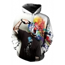 Hot Fashion Digital Magic Clown Printed Long Sleeve Casual Loose Unisex Hoodie