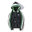 Fashion Color Block Long Sleeve Comfort Casual Sports Unisex Hoodie