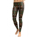 Chic Christmas Snowflake Gifts Pattern Skinny Sports Leggings